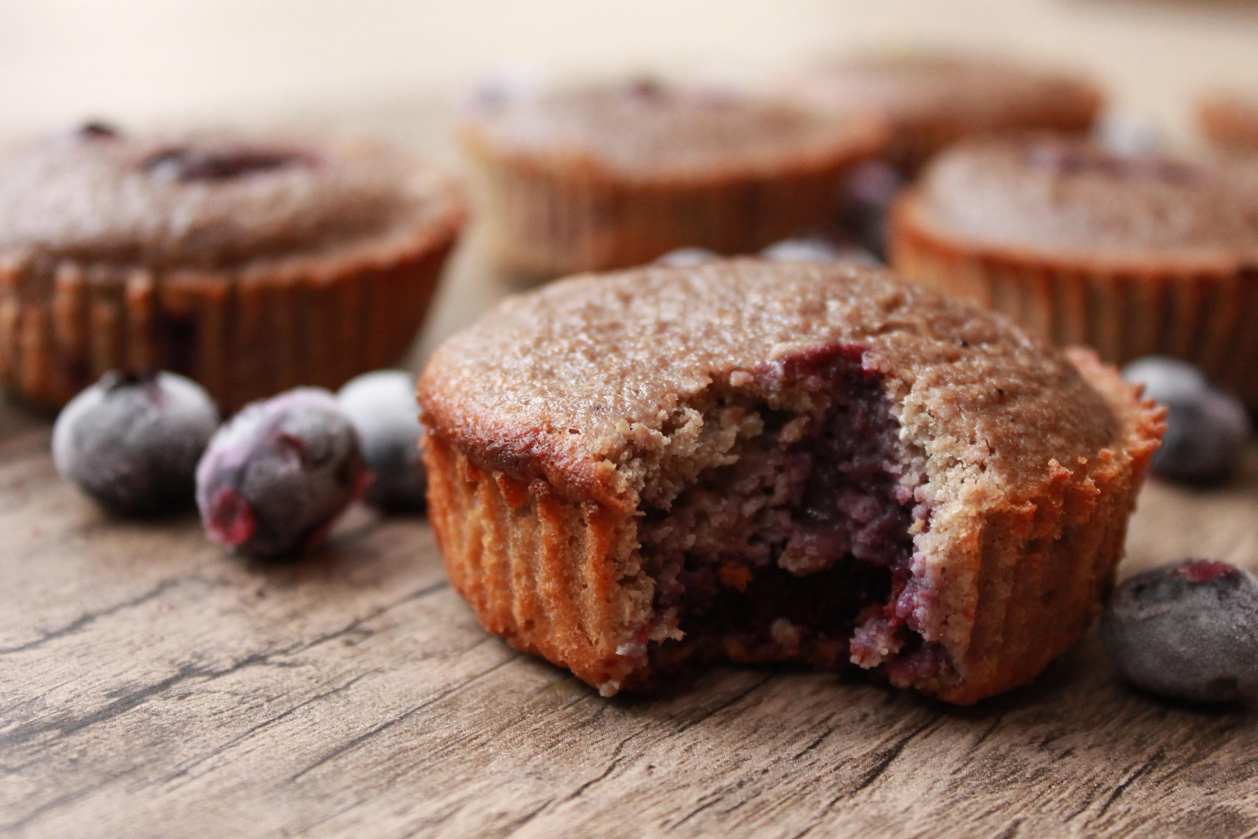 Muffins de blueberries doble – Healthy Pleasure